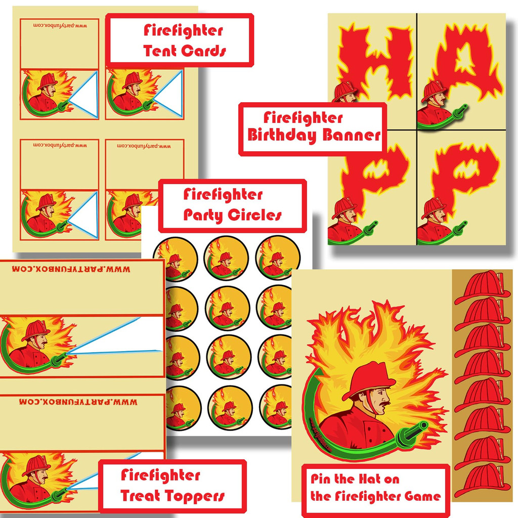 Firefighter Party Printables