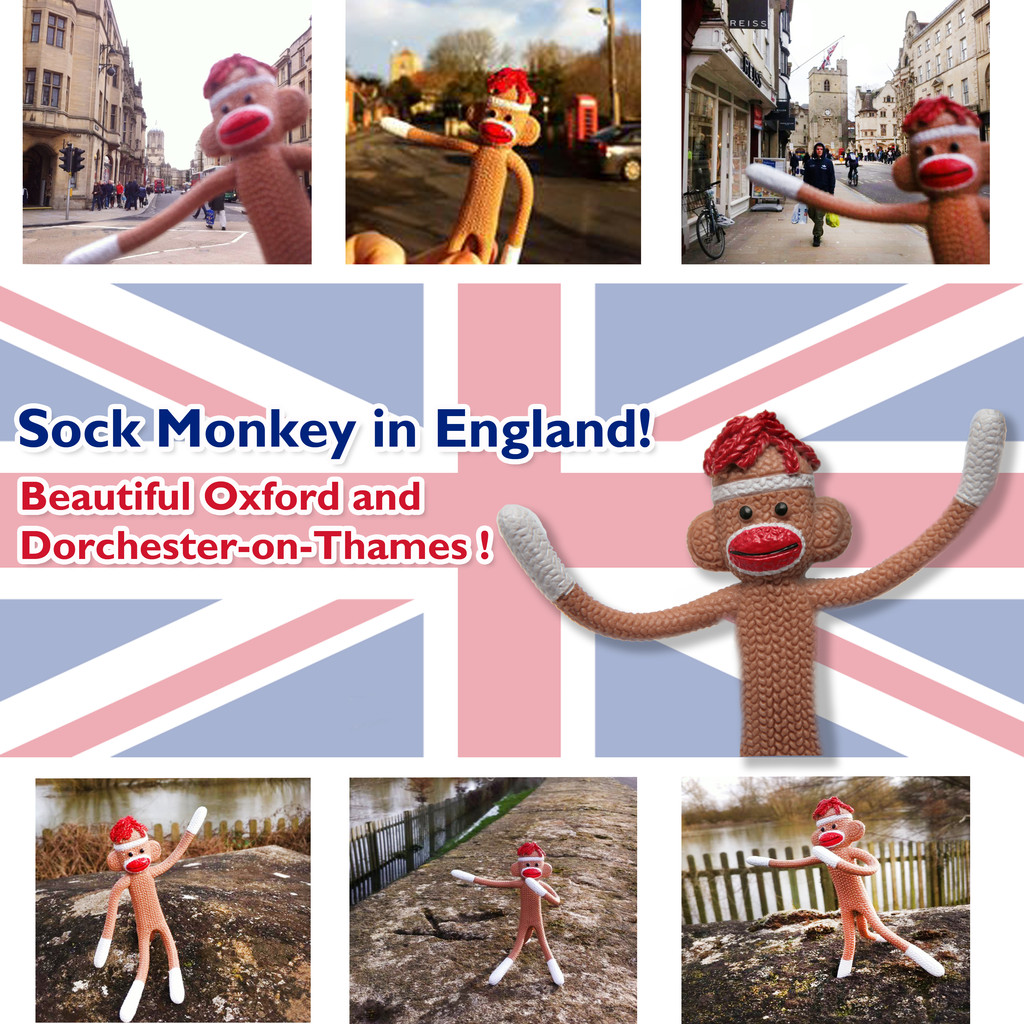 Sock Monkey in England!