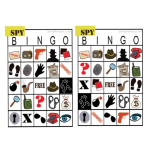 Bingo card pair 1 rotated and squared