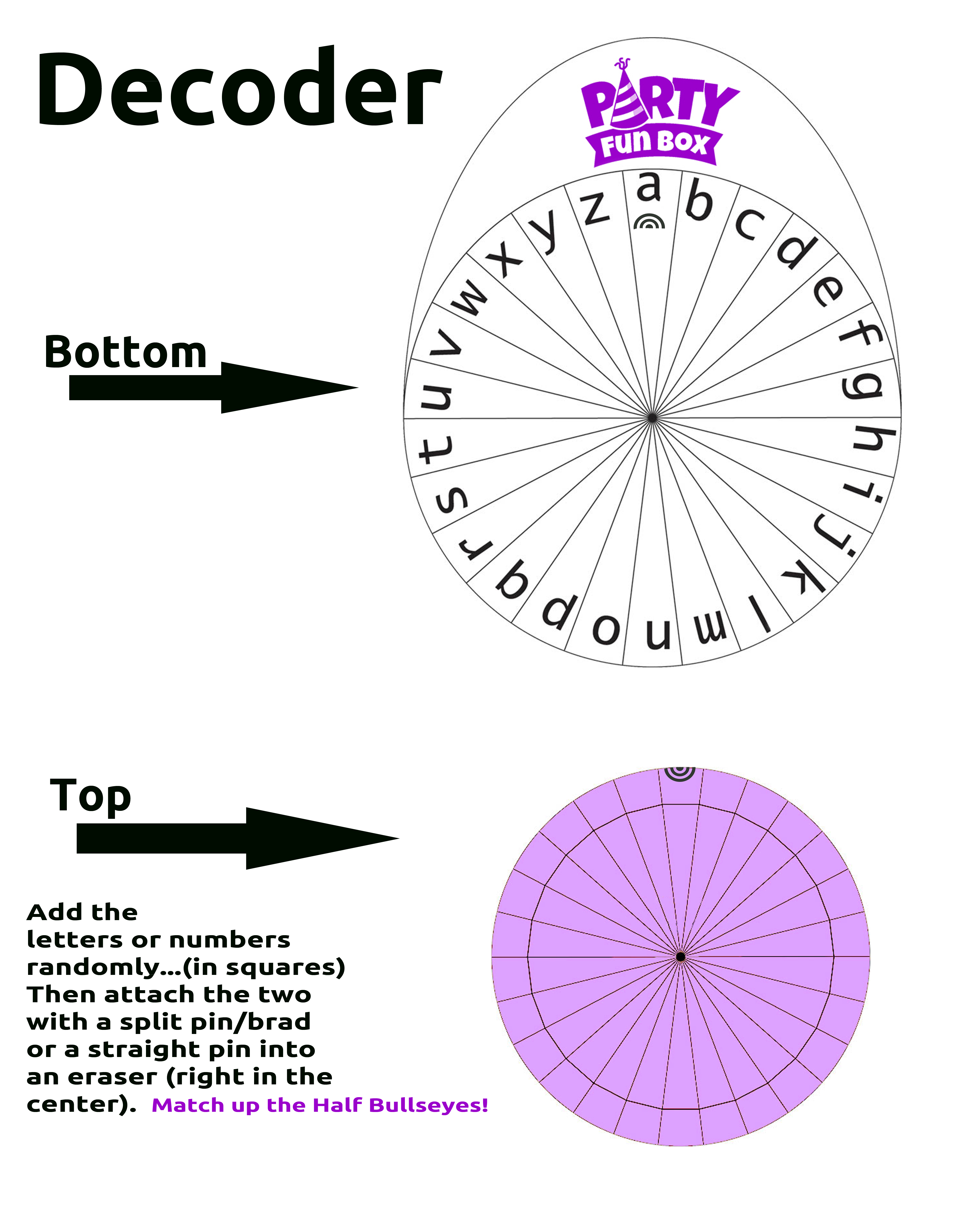 picture relating to Printable Cipher Wheel named Cipher Wheels - Occasion Entertaining Box